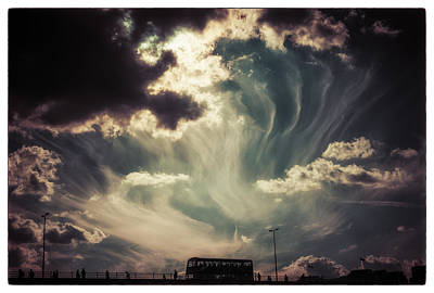 Photograph - Sky Wisps Over A Double Decker by Lenny Carter