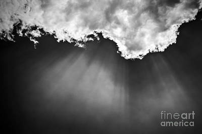 Sky With Sunrays Art Print