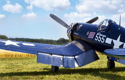 Allies Photograph - Skyboss Corsair by Peter Chilelli