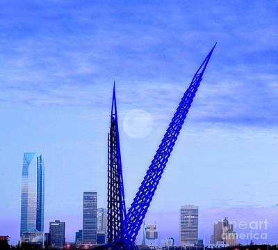 Photograph - Skydance Bridge In Oklahoma City Oklahoma by Janette Boyd