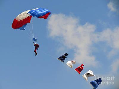 Photograph - Skydivers #02 by Ausra Huntington nee Paulauskaite