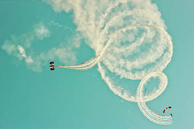Photograph - Skydivers by Photography By Lubaib Gazir