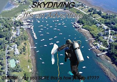 04003 Photograph - Skydiving 2 by Donnie Freeman