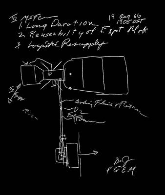 Manned Space Flight Photograph - Skylab Concept Sketch by Nasa