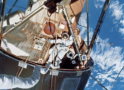 Manned Space Flight Photograph - Skylab Space Station Space-walk by Nasa