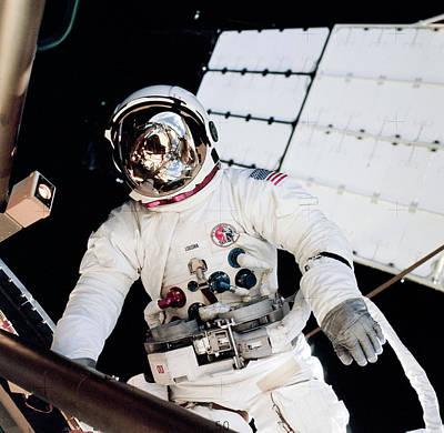 Extravehicular Activity Photograph - Skylab Spacewalk by Nasa