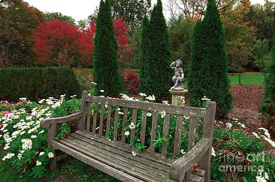 Photograph - Skylands Garden Bench by John Rizzuto