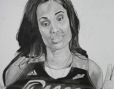 Drawing - Skylar Diggins by Aaron Balderas