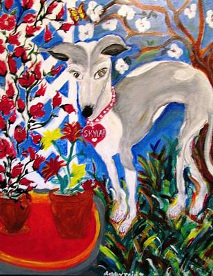 Painting - Skylar Miniature Greyhound by Debby Reid