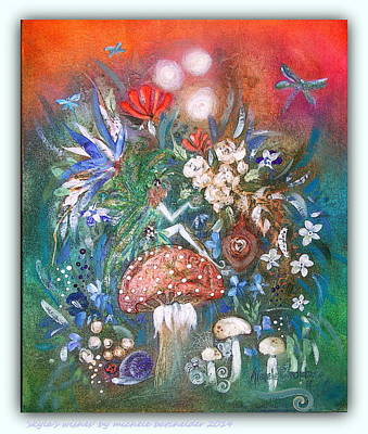 Faerys Painting - 'skyla's Wishes' by Michele Batchelder