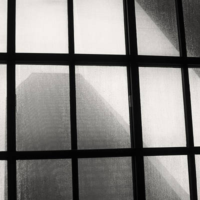 Photograph - Skylight In Rain Bw Square by Tony Grider