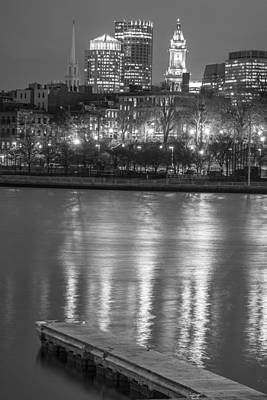 Photograph - Skyline And Dock In Boston  by John McGraw