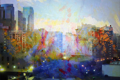 Painting - Skyline At Sunset by John Fish