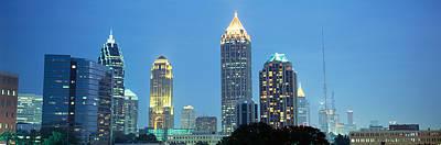 Glass Reflection Photograph - Skyline Atlanta Ga Usa by Panoramic Images