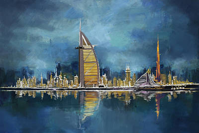 Khalifa Painting - Skyline Burj-ul-khalifa  by Corporate Art Task Force