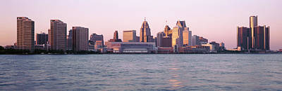 Skyline Detroit Mi Usa Art Print by Panoramic Images