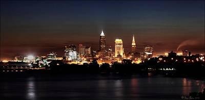 Kitchen Mark Rogan - Skyline Downtown Cleveland by Daniel Behm