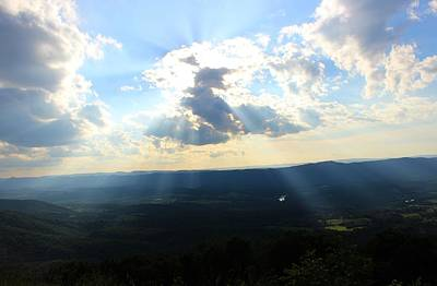 Photograph - Skyline Drive Sunrays by Candice Trimble