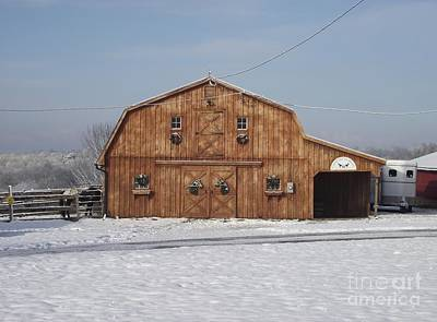 Photograph - Skyline Farm Horse Barn by Michelle Welles