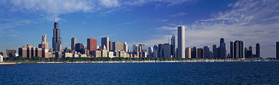 Skyline From Lake Michigan, Chicago Art Print by Panoramic Images