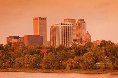 Arkansas Photograph - Skyline From The Arkansas River by Panoramic Images