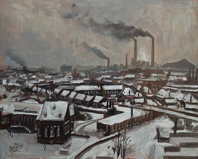 Briex Painting - Skyline Heerlen 1972 by Nop Briex