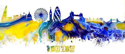 London Skyline Digital Art - Skyline London England  by Justyna JBJart