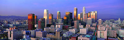 Skyline, Los Angeles, California Art Print