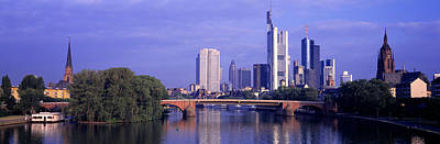 Historic Architecture Photograph - Skyline Main River Frankfurt Germany by Panoramic Images