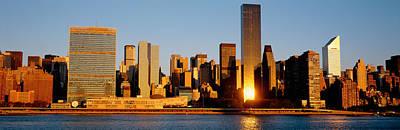 New York City Photograph - Skyline, Manhattan, New York State, Usa by Panoramic Images