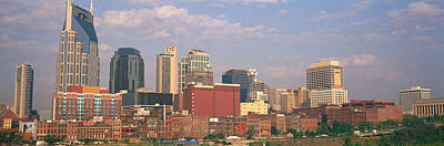 Skyline Nashville Tn Art Print by Panoramic Images