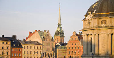Gamla Stan Photograph - Skyline Of A City, Gamla Stan by Panoramic Images