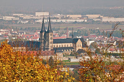 Saint Michael Photograph - Skyline Of Bamberg, Germany by Michael Defreitas
