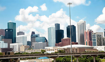 Skyline Of Downtown Houston Texas Art Print by Fstop123