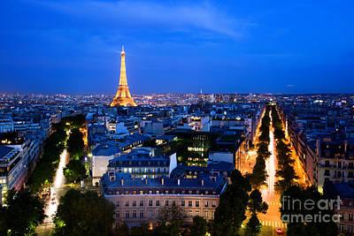 Paris Skyline Photos - Skyline of Paris by Michal Bednarek