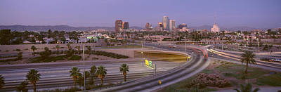 Merging Photograph - Skyline Phoenix Az Usa by Panoramic Images
