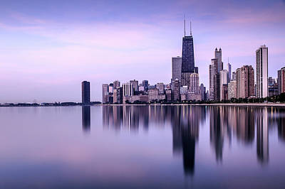 Photograph - Skyline Seen From North Avenue Beach by Darekm101