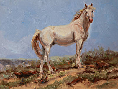 Painting - Skyline Stallion by Karen McLain