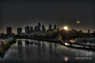 Skyline Sunrise Art Print by Mark Ayzenberg