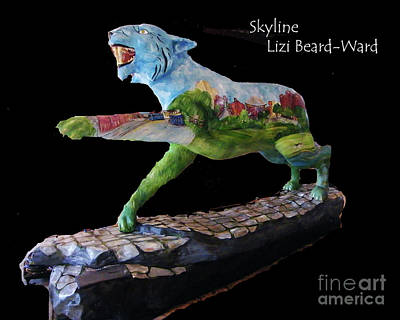Mixed Media - Skyline Tiger by Lizi Beard-Ward