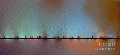 Digital Art - Skyline by Ursula Freer