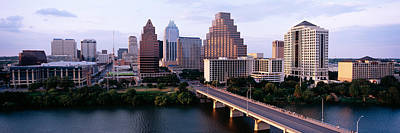 Skylines In A City, Lady Bird Lake Art Print by Panoramic Images