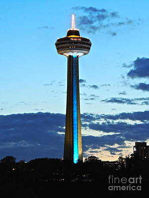 Photograph - Skylon Tower - Blue by Eve Spring