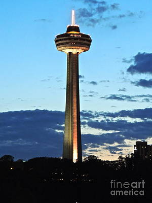 Photograph - Skylon Tower - Gold by Eve Spring
