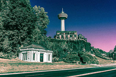 Photograph - Skylon Tower In The Evening by Boris Mordukhayev