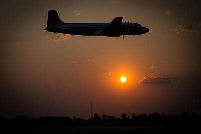 Art Print featuring the photograph Skymaster Sunset by Paul Job