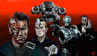 Schwarzenegger Painting - Skynet Vs Ocp by Vinny John Usuriello