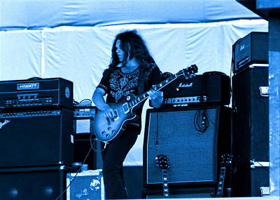 Musicians Photograph - Skynyrd #13 In Blue by Ben Upham