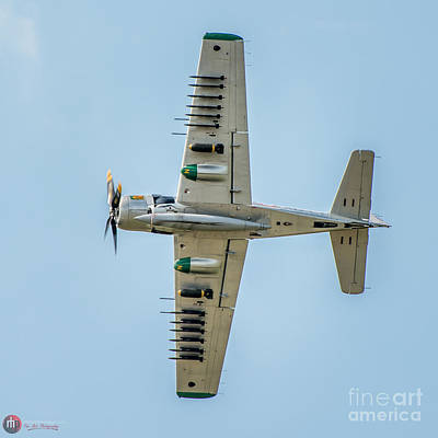 Photograph - Skyraider Belly by Rob Heath