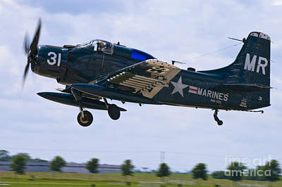 Photograph - Skyraider Detparture by Tim Mulina